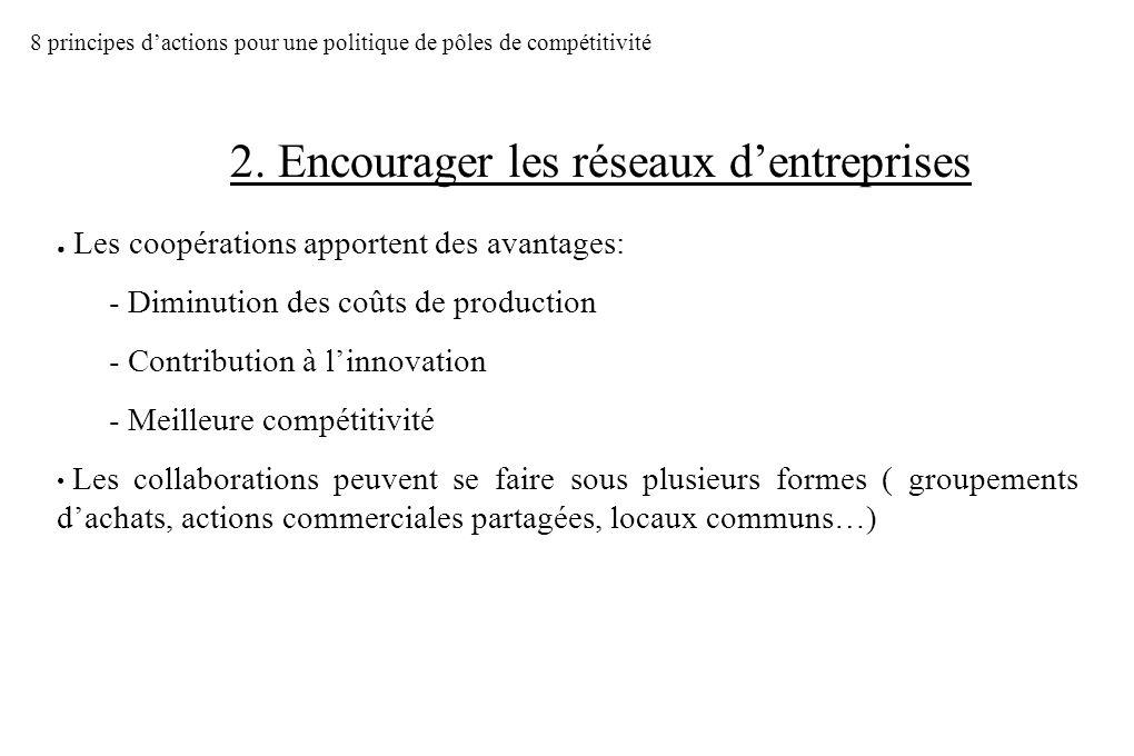 Les coopérations apportent des avantages: - Diminution des coûts de production - Contribution à linnovation - Meilleure compétitivité Les collaboratio