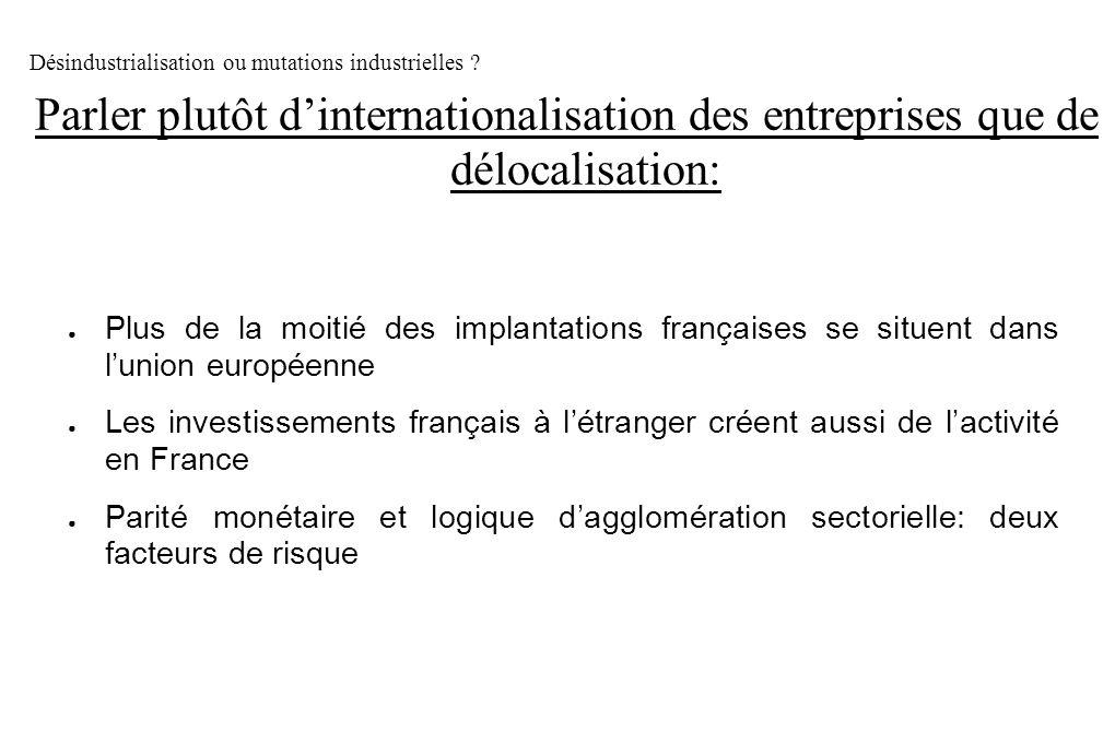 Plus de la moitié des implantations françaises se situent dans lunion européenne Les investissements français à létranger créent aussi de lactivité en