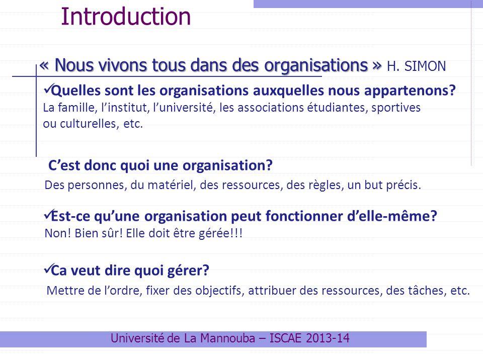 Quelles sont les organisations auxquelles nous appartenons.