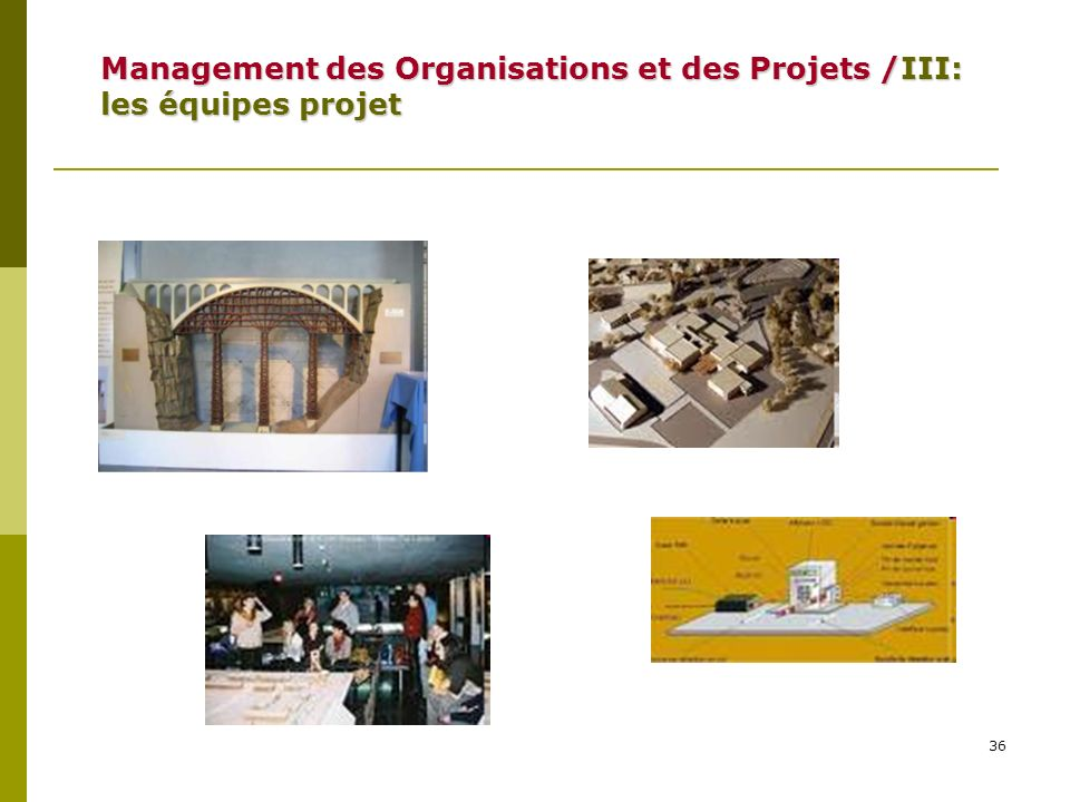 36 Management des Organisations et des Projets /III: les équipes projet