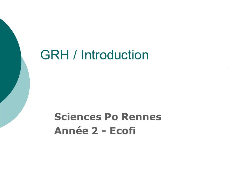GRH / Introduction Sciences Po Rennes Année 2 - Ecofi