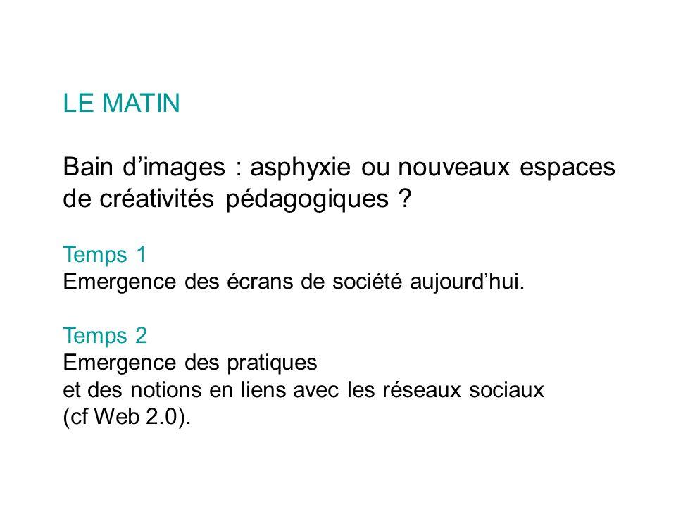 LE MATIN Bain dimages : asphyxie ou nouveaux espaces de créativités pédagogiques .