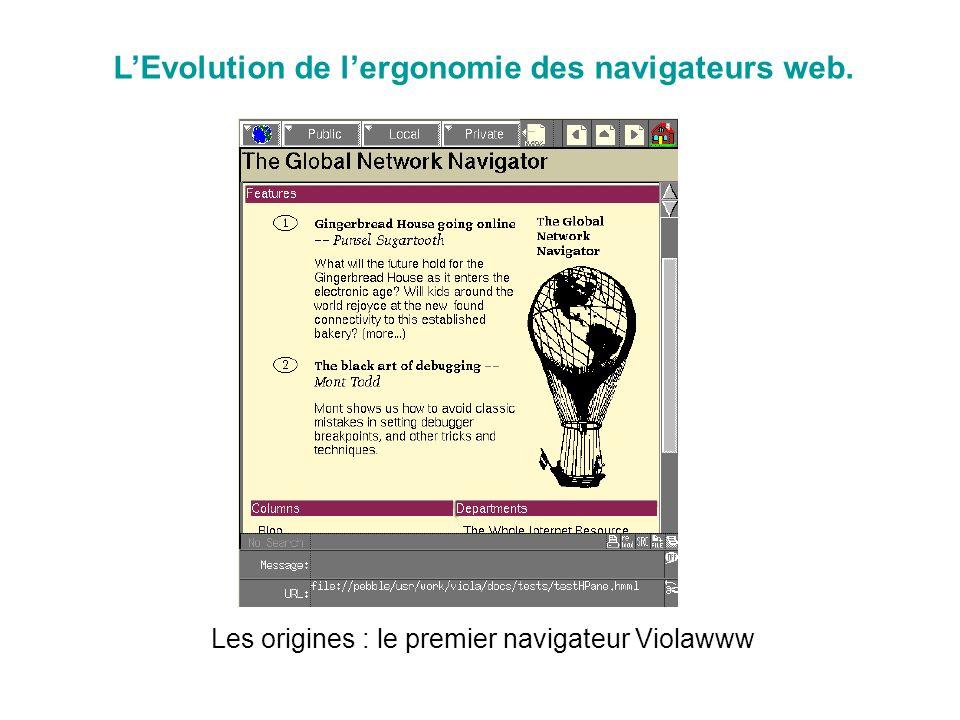 LEvolution de lergonomie des navigateurs web. Les origines : le premier navigateur Violawww