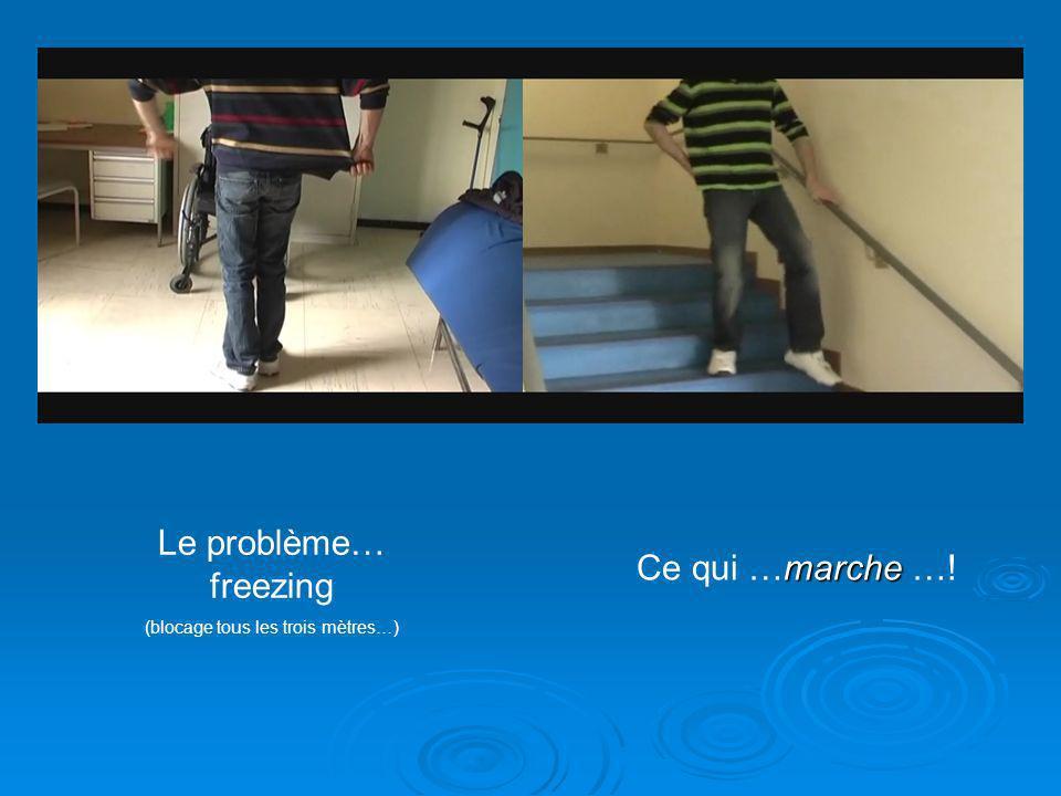Le problème… freezing (blocage tous les trois mètres…) marche Ce qui …marche …!