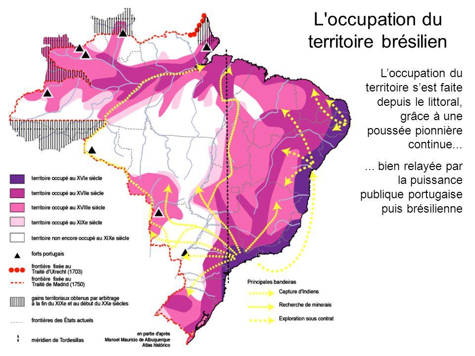 Loccupation du territoire sest faite depuis le littoral, grâce à une poussée pionnière continue......