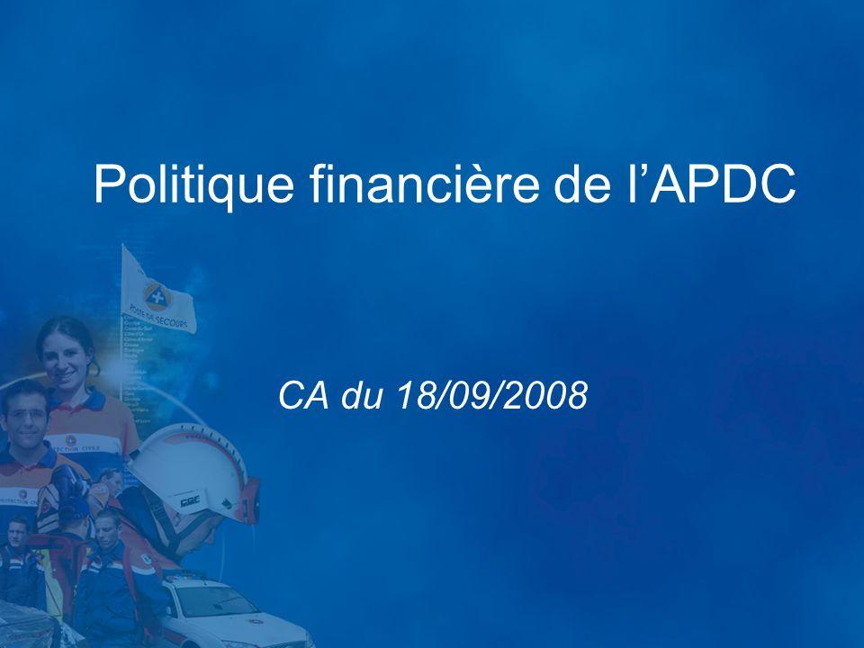 Politique financière de lAPDC CA du 18/09/2008