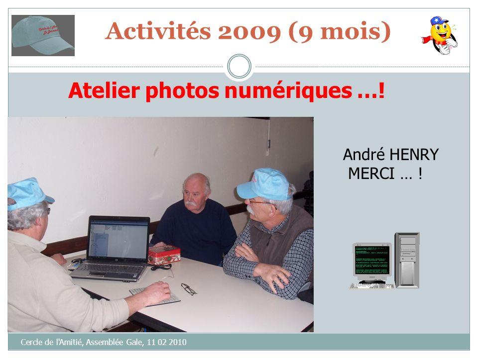 Cercle de l Amitié, Assemblée Gale, 11 02 2010 VOTE(S) « CONTRE »= ABSTENTION(S)= VOTE(S) « POUR » = Bilan moral 2009 (9 mois)