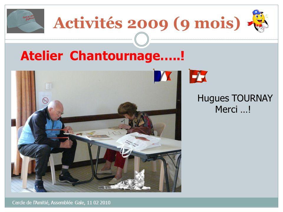 Cercle de l Amitié, Assemblée Gale, 11 02 2010 Atelier Chantournage…...