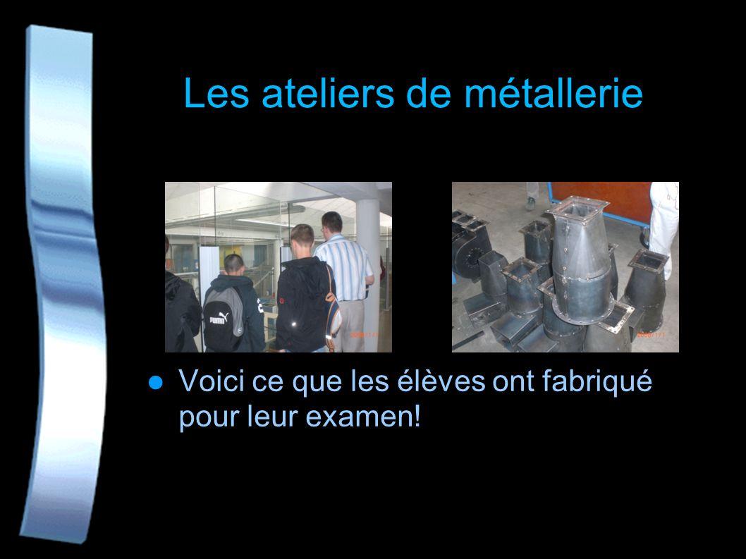 Les machines des ateliers Et ensuite le chef des travaux M. Vasseur nous a fait visiter les ateliers : cela nous a bien plu!
