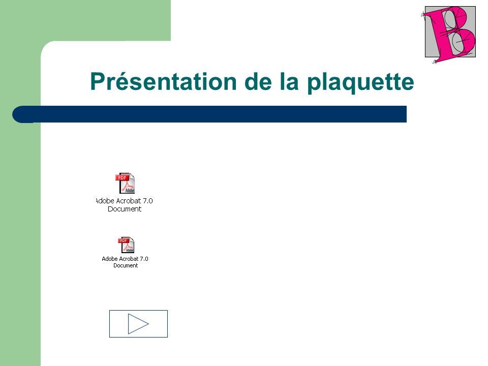 Présentation de la plaquette