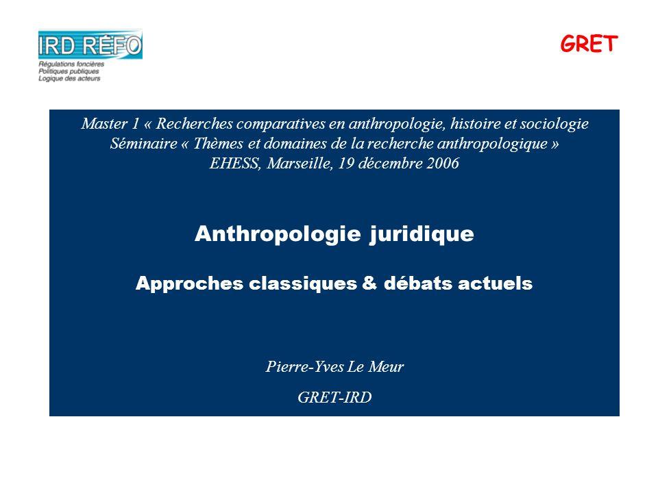 Master 1 « Recherches comparatives en anthropologie, histoire et sociologie Séminaire « Thèmes et domaines de la recherche anthropologique » EHESS, Ma