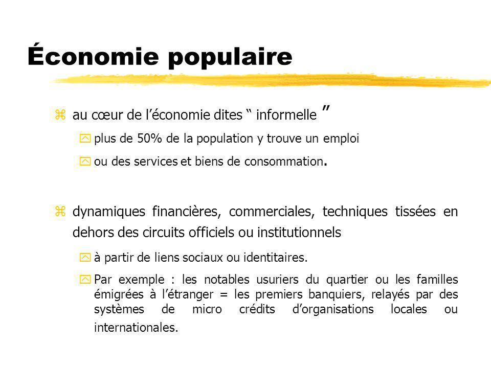 Économie populaire z au cœur de léconomie dites informelle yplus de 50% de la population y trouve un emploi you des services et biens de consommation.