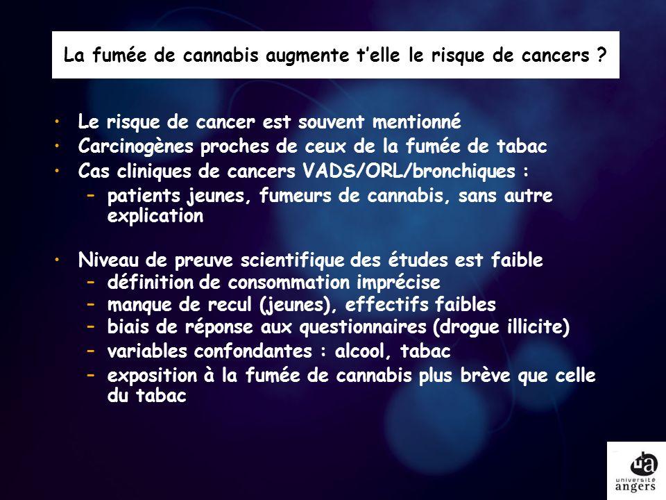 Usage problématique : orienter le patient 280 consultations cannabis jeunes consommateurs : www.drogues.gouv.fr Angers – –La Boëtie centre 144 : 0241474737 – –Médecine E : Consultations cannabis et alcoologie : 0241355352 BaugéPoint écoute relais : 0241474737 BeaupreauConsultation cannabis : 0241653261 ChemilléConsultation cannabis : 0241302861 CholetConsultation cannabis : 0241653261 SaumurConsultation cannabis : 0241508634 SegréConsultation cannabis : 0241474737 UCT Pneumologie : Consultation tabac : 0241355845 Ecoute cannabis 0 811 91 20 20 Fil Santé Jeunes : 0 800 235 236