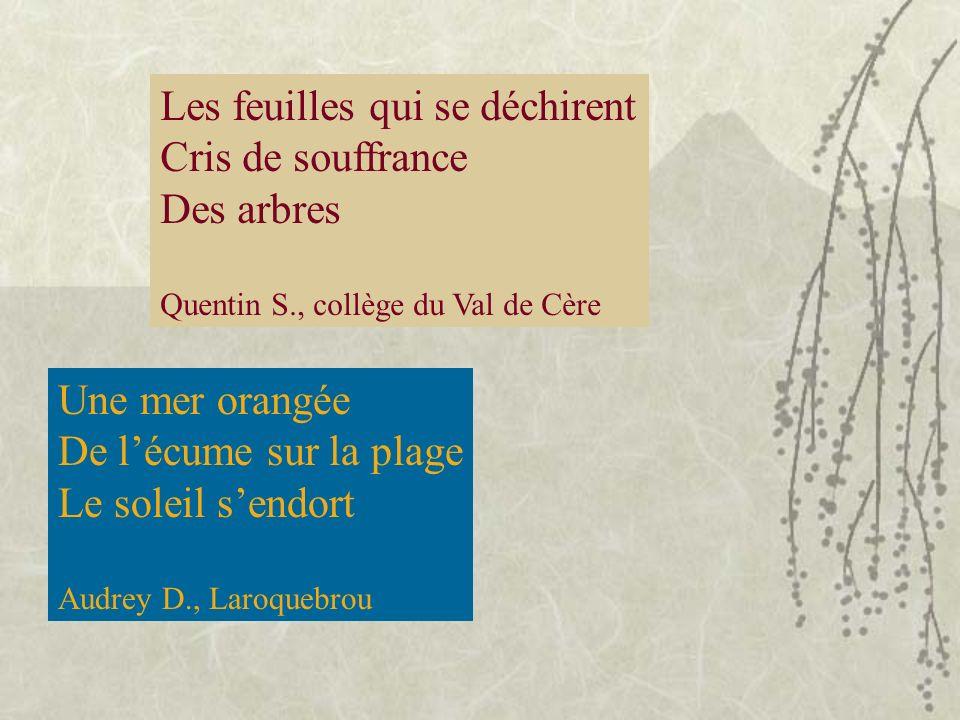 « Clic clac », Limage se fige Photographie Laurie D., Collège du Val de Cère Quel pays si magnifique Goût et odeur de pains dépice Quel délice ! Laura