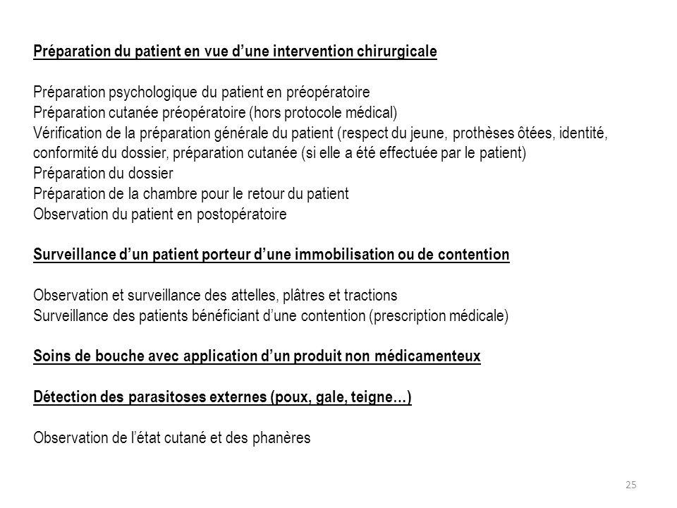 Préparation du patient en vue dune intervention chirurgicale Préparation psychologique du patient en préopératoire Préparation cutanée préopératoire (