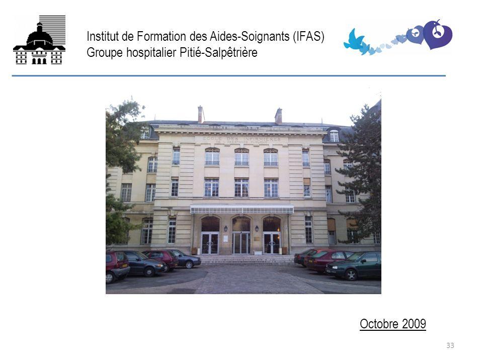 FIN Octobre 2009 Institut de Formation des Aides-Soignants (IFAS) Groupe hospitalier Pitié-Salpêtrière 33