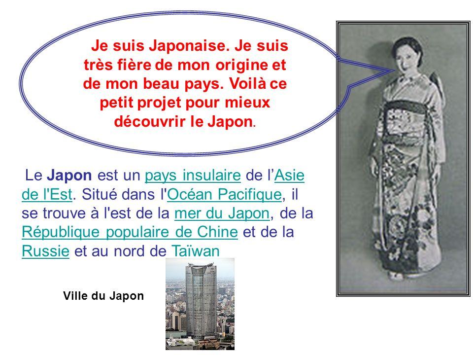 Je suis Japonaise. Je suis très fière de mon origine et de mon beau pays. Voilà ce petit projet pour mieux découvrir le Japon. Le Japon est un pays in