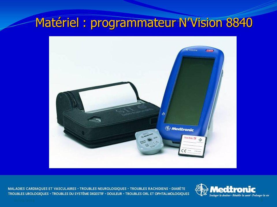 21/02/20148 Matériel : programmateur NVision 8840