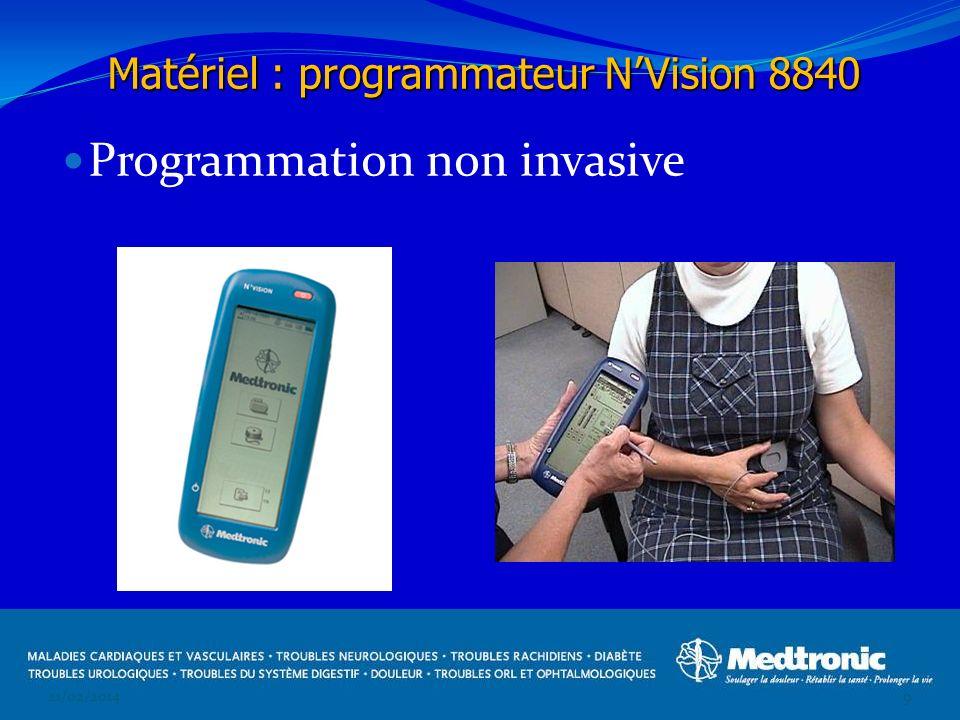 Programmation non invasive 21/02/20149 Matériel : programmateur NVision 8840