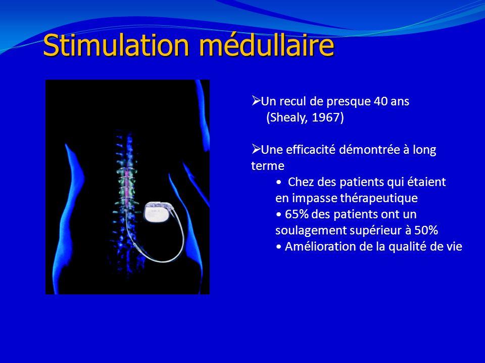 21/02/201424 Stimulation médullaire Un recul de presque 40 ans (Shealy, 1967) Une efficacité démontrée à long terme Chez des patients qui étaient en i