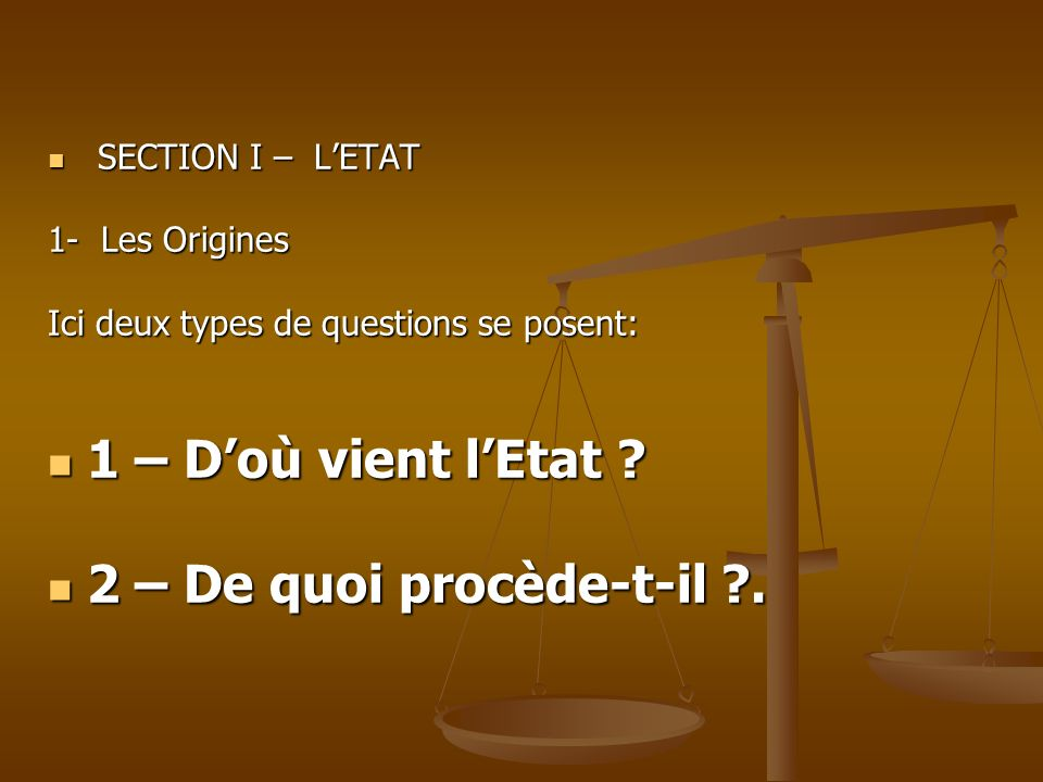 SECTION 1: LETAT 2.LES FONCTIONS 2.