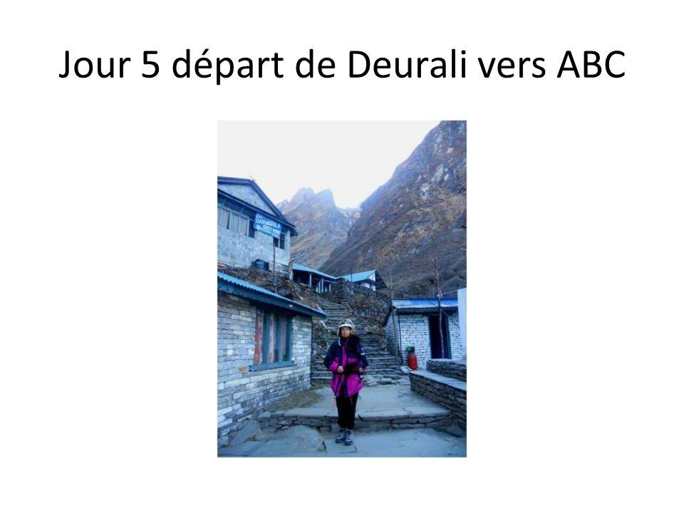 Jour 5 départ de Deurali vers ABC