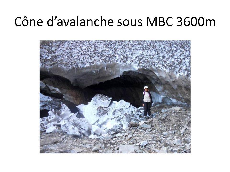 Cône davalanche sous MBC 3600m