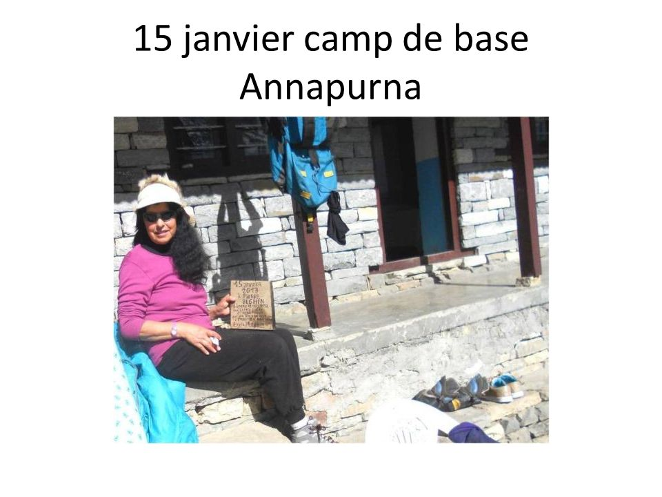 15 janvier camp de base Annapurna