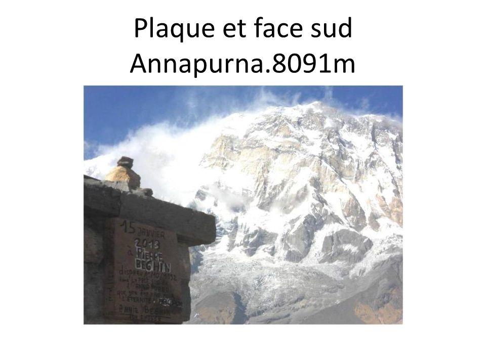 Plaque et face sud Annapurna.8091m