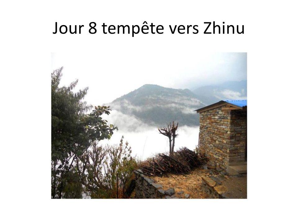 Jour 8 tempête vers Zhinu
