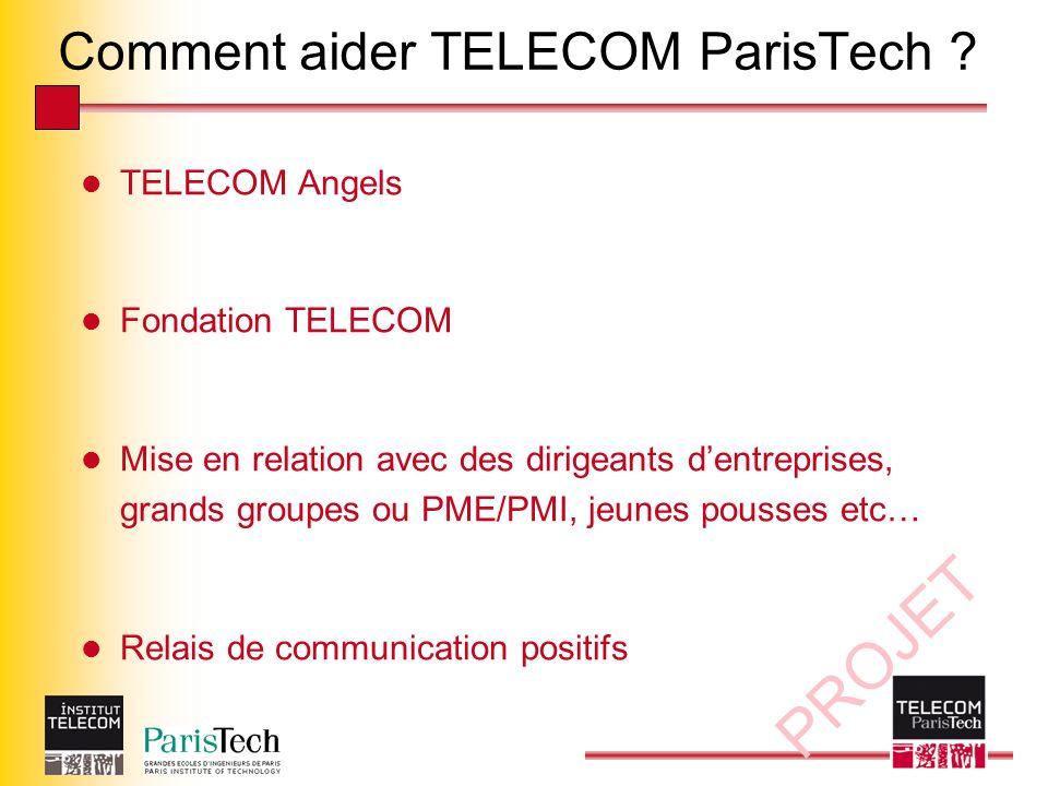 PROJET Comment aider TELECOM ParisTech .