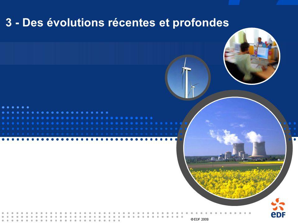 La situation française en 2000 EDF, 1er exploitant mondial dans le nucléaire Un parc standardisé, sûr, propre et compétitif 58 tranches en exploitatio