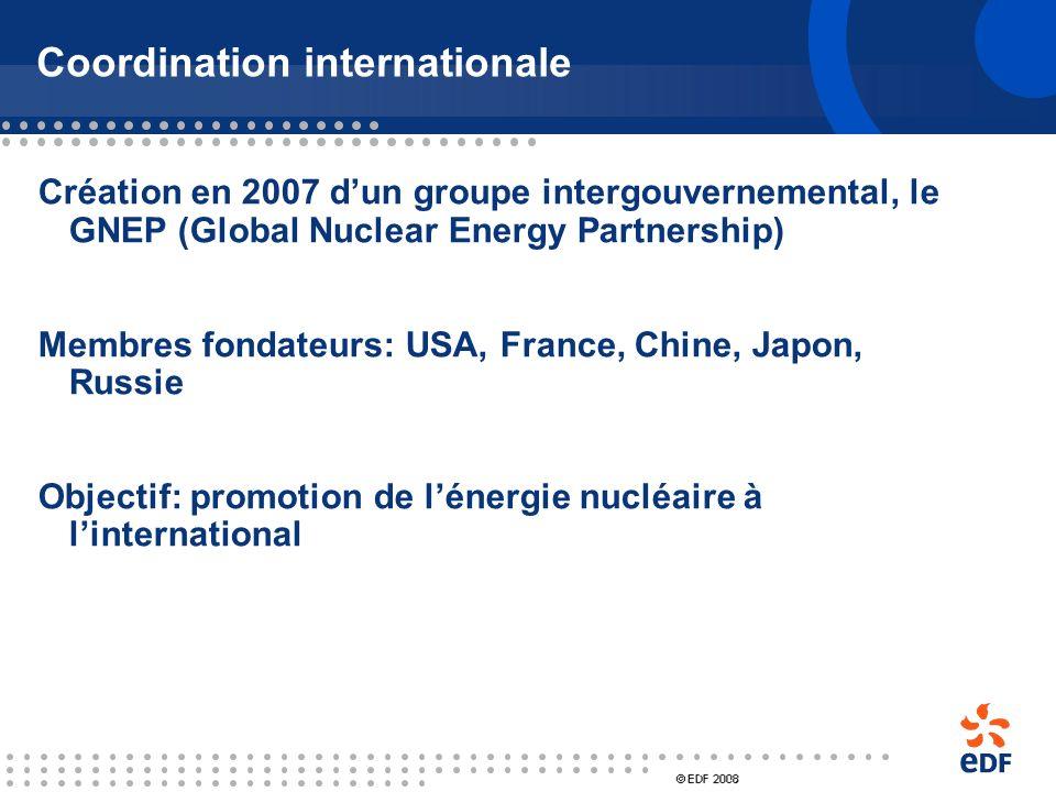 De nouvelles réglementations sont adoptées dans les pays USA : Energy policy act (8 août 2005) En faveur des « technologies innovantes » dont le nuclé