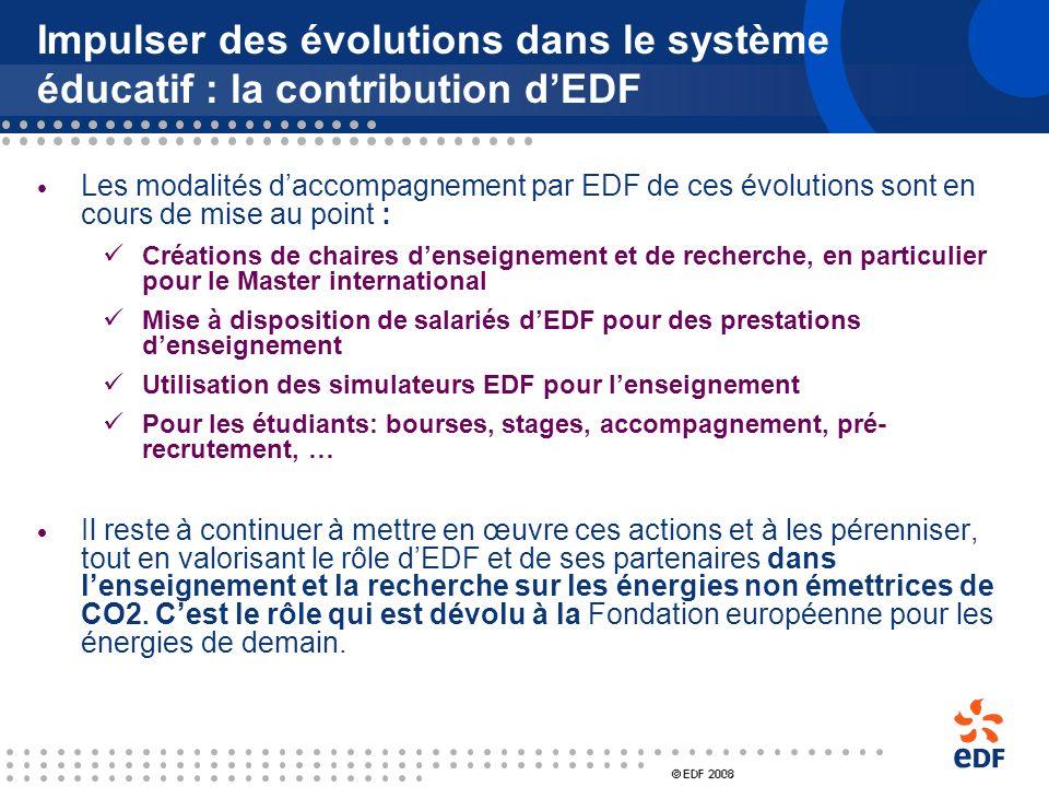Impulser des évolutions dans le système éducatif : trois axes dévolution 1. Renforcement et structuration de lenseignement de lénergie dans les cursus