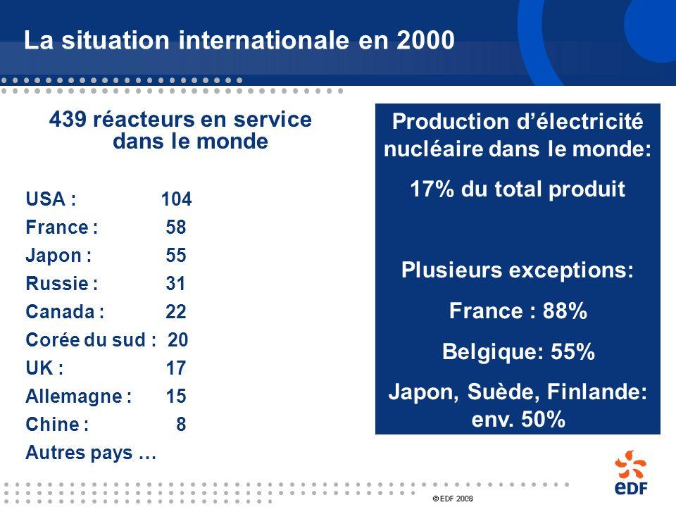 2 - La situation internationale en 2000