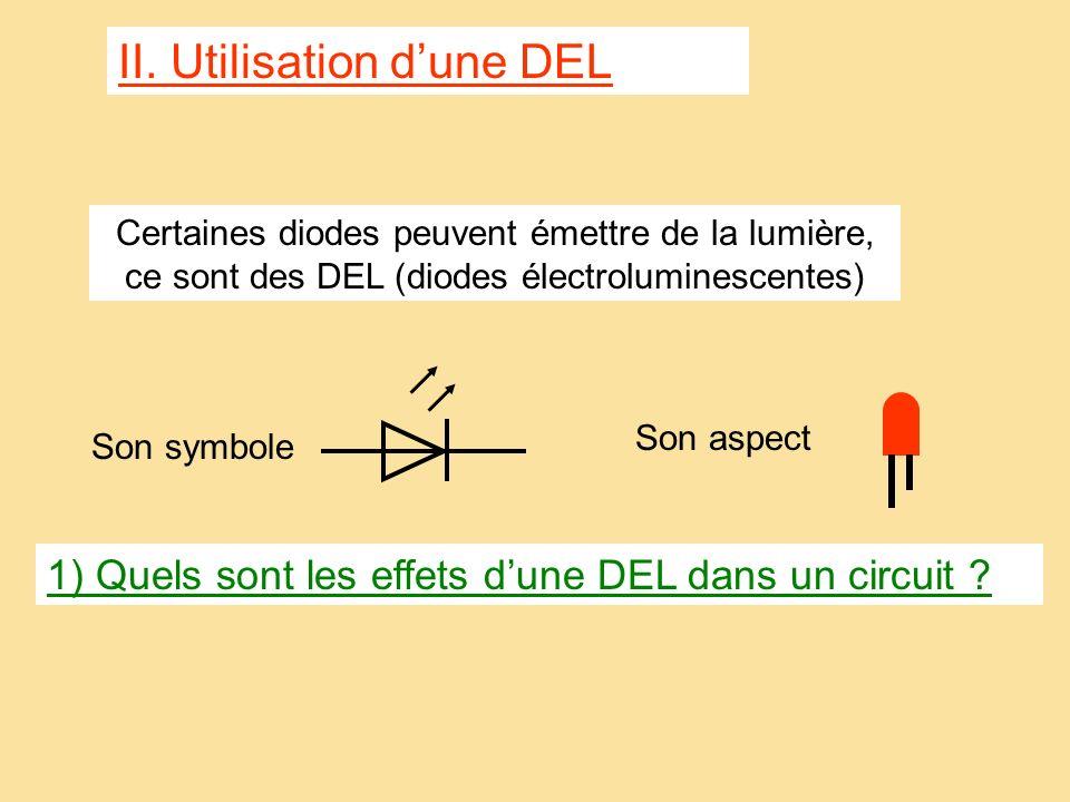 Sens du courant On peut aussi représenter le sens du courant seulement par une flèche placée sur un fil. Lampe Pile + -