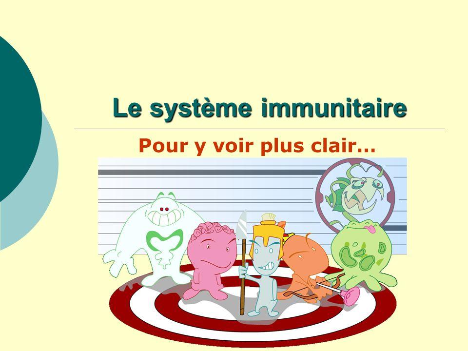 Le système immunitaire Pour y voir plus clair…