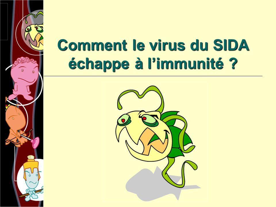 Comment le virus du SIDA échappe à limmunité ?