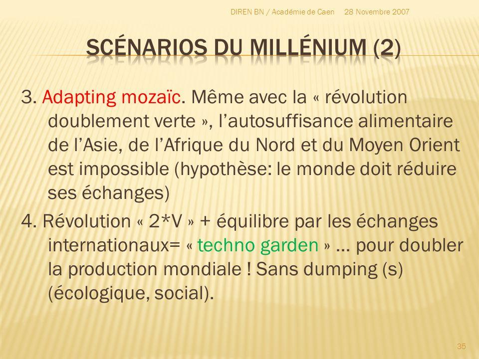 3. Adapting mozaïc. Même avec la « révolution doublement verte », lautosuffisance alimentaire de lAsie, de lAfrique du Nord et du Moyen Orient est imp