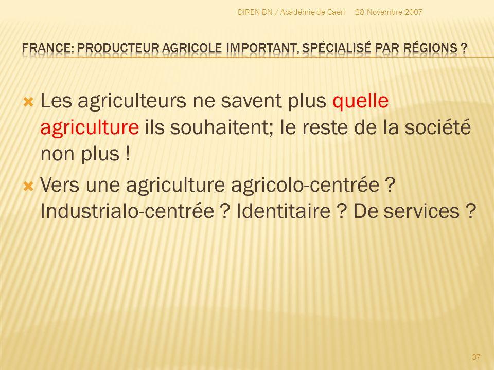 Les agriculteurs ne savent plus quelle agriculture ils souhaitent; le reste de la société non plus ! Vers une agriculture agricolo-centrée ? Industria