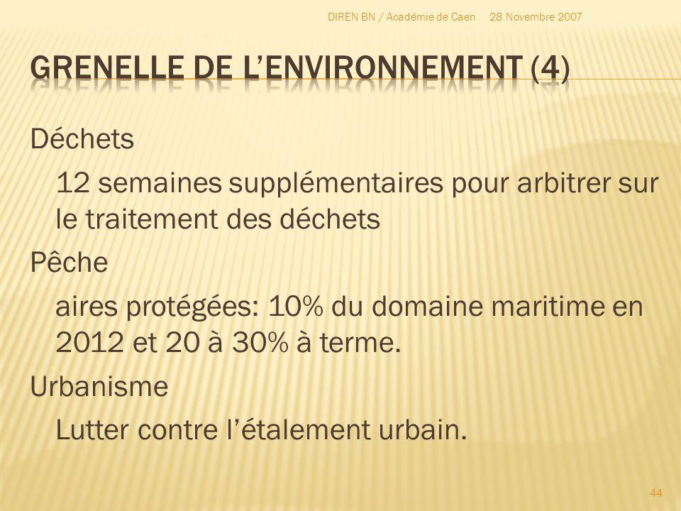 Déchets 12 semaines supplémentaires pour arbitrer sur le traitement des déchets Pêche aires protégées: 10% du domaine maritime en 2012 et 20 à 30% à t