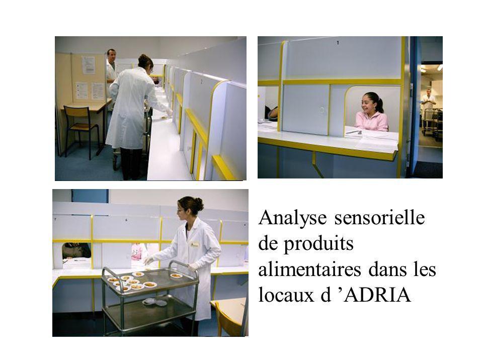 Analyse sensorielle de produits alimentaires dans les locaux d ADRIA