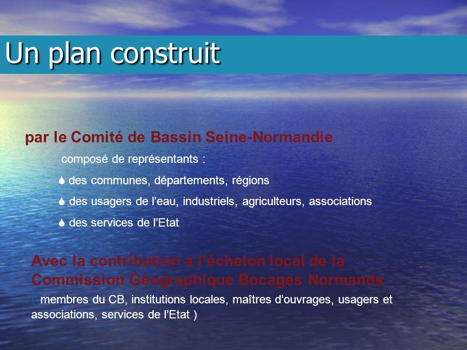 par le Comité de Bassin Seine-Normandie composé de représentants : des communes, départements, régions des usagers de leau, industriels, agriculteurs,
