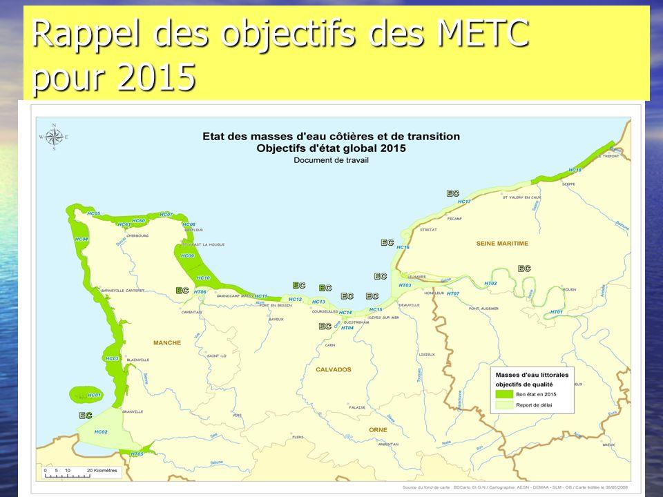 Rappel des objectifs des METC pour 2015
