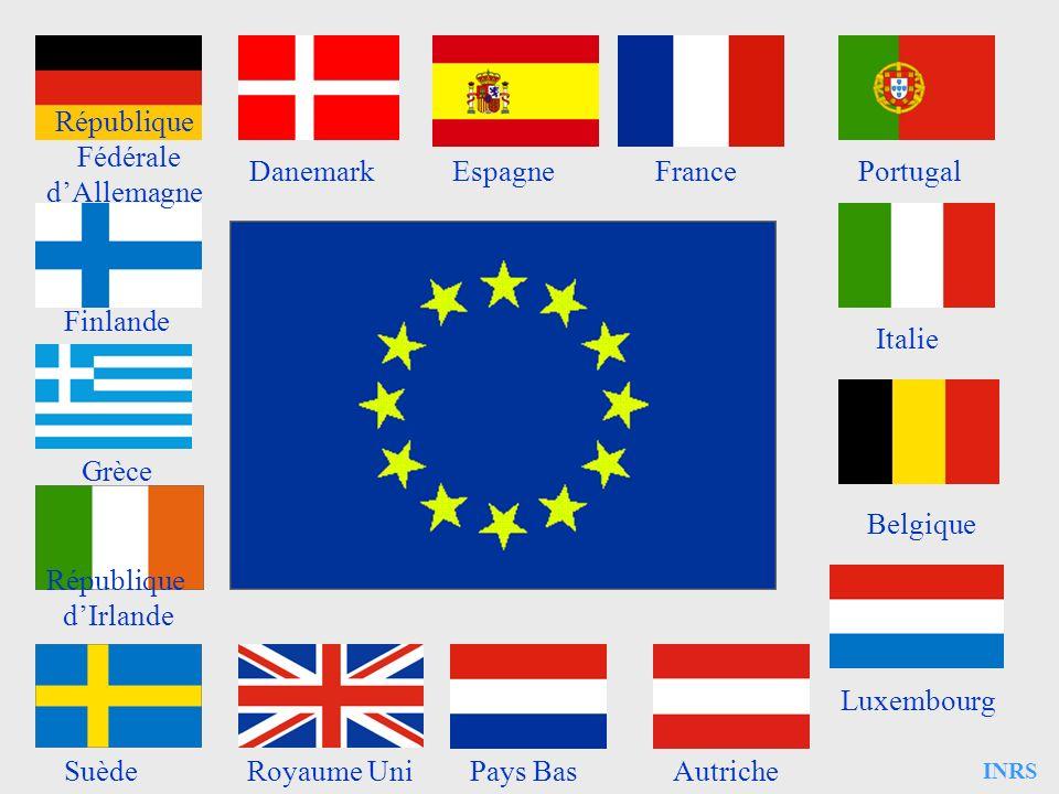 INRS Autriche République Fédérale dAllemagne DanemarkEspagneFrancePortugal Italie Belgique Luxembourg Finlande Grèce République dIrlande Pays BasSuède
