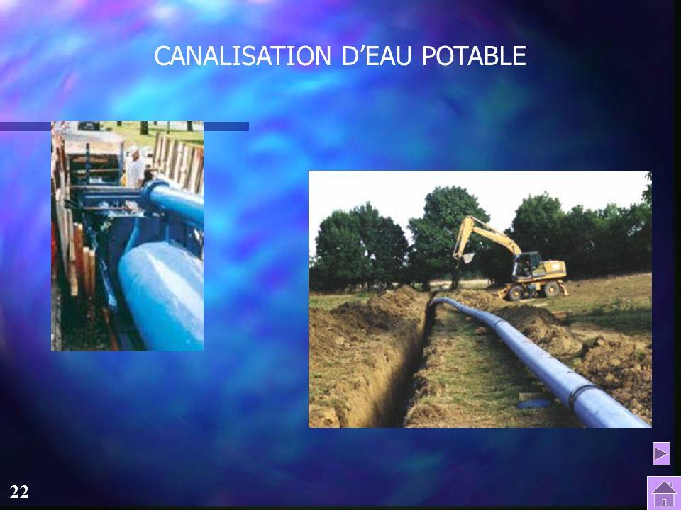 21 Le traitement de leau à St-Brieuc L'eau potable est ensuite stockée dans les réservoirs de Berrien (12000 m3) et du Champ de Manœuvre (8000 m3) pou