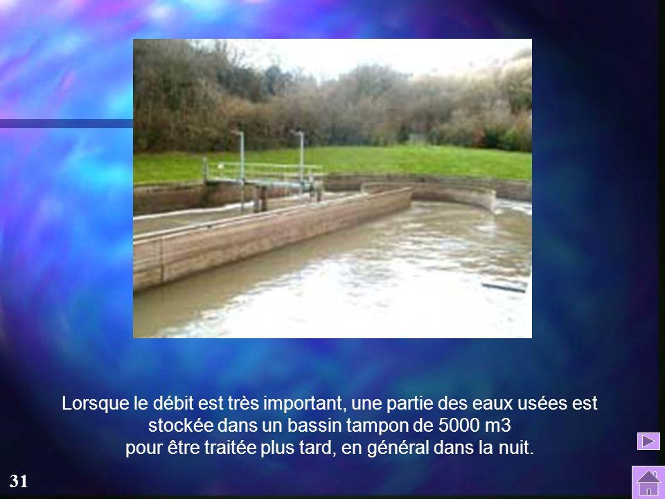 30 Le pré traitement : L'eau traverse une première grille, qui permet d'éliminer les plus gros décrets : c'est le dégrillage. Les sables et graviers s