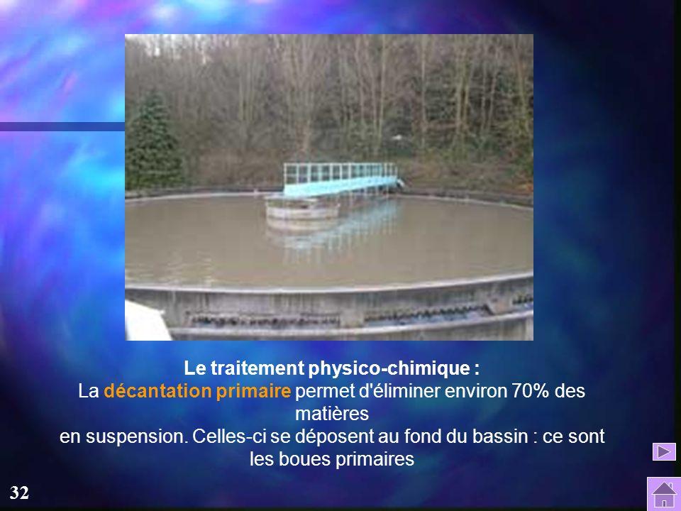 31 Lorsque le débit est très important, une partie des eaux usées est stockée dans un bassin tampon de 5000 m3 pour être traitée plus tard, en général