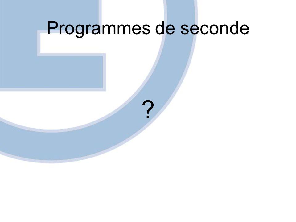 Programmes de seconde