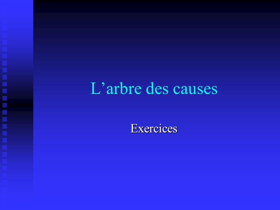 Larbre des causes Exercices